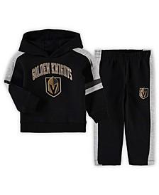 Toddler Boys Black Vegas Golden Knights Break Out Fleece Pullover Hoodie Pants Set