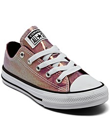 Little Girls Chuck Taylor All Star Iridescent Glitter Casual Sneakers from Finish Line