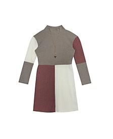 Big Girls Color Block Rib Knit Dress