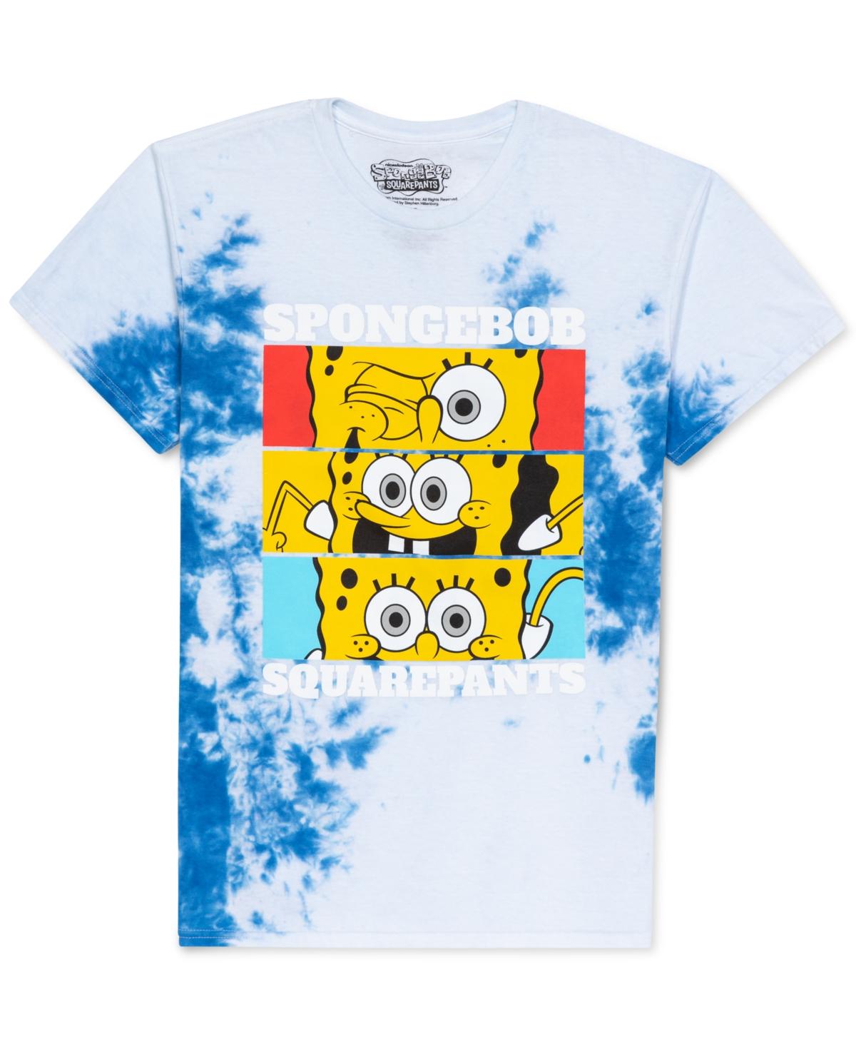 Spongebob Silly Faces Tie Dye Men's Graphic T-Shirt