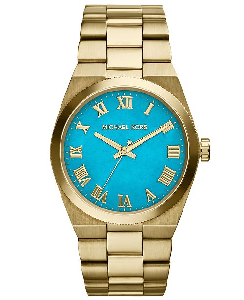Michael Kors Women's Channing Gold-Tone Stainless Steel Bracelet Watch 38mm MK5894