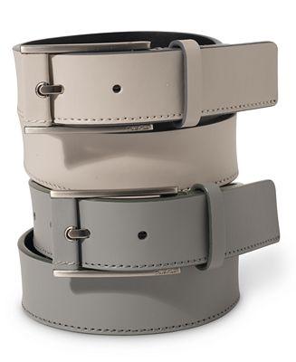 Calvin Klein 32mm Pop Color Edge Leather Dress Belt