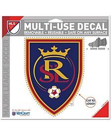 "Multi Real Salt Lake 4.5"" x 5.75"" Multi-Use Cut To Logo Decal"