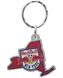 Multi New York Red Bulls Acrylic Keychain State Logo