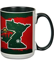 Multi Minnesota Wild 15 oz It's Your State of Mind Mug