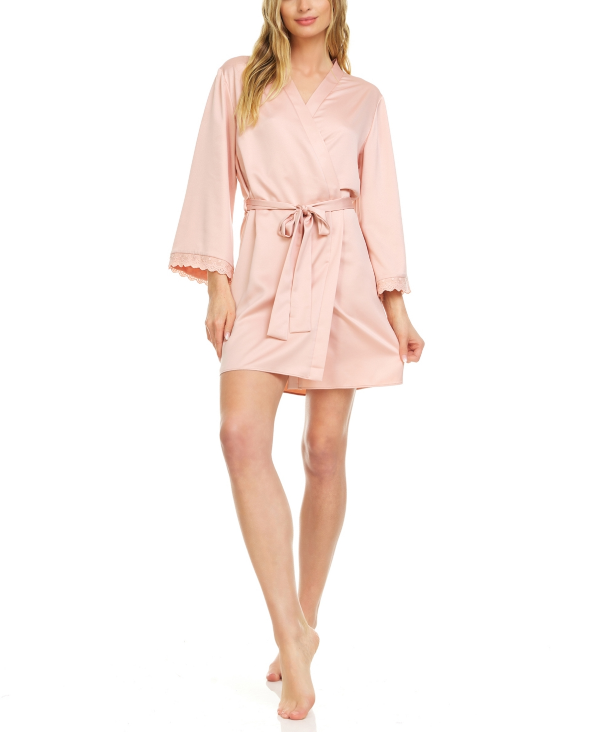 Women's Victoria Charmeuse Wrap with Lace