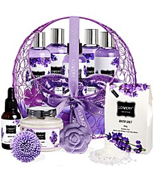 Lavender and Jasmine Body Care Bath Gift Set, 12 Piece