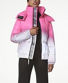 Women's Reflective Ombre Puffer Coat