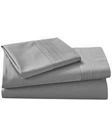 Donna Karan Home Silver Queen Flat Sheet