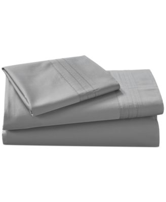 donna karan home silver california king fitted sheet - Cal King Sheets