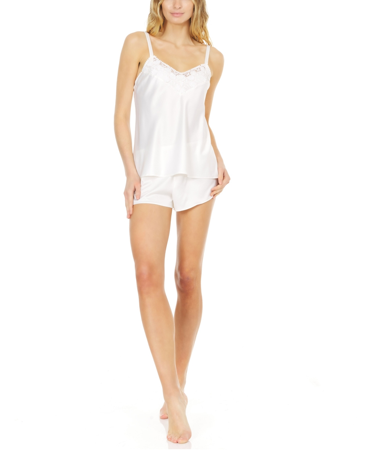 Women's Kylie Cami Set with Embroidered Lace