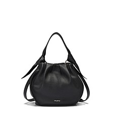 Selena Leather Bucket Bag