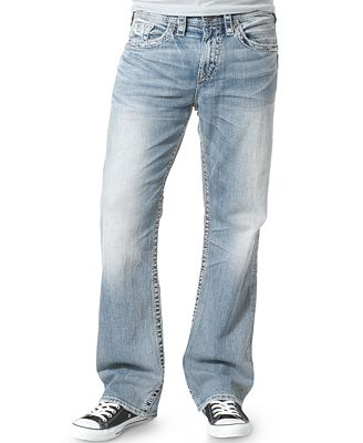 Silver Jeans Co. Men's Grayson Relaxed Fit Straight Jeans - Jeans ...