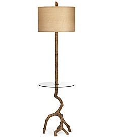 Pacific Coast Beachwood Floor Lamp with Tray Table