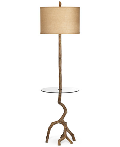 Pacific coast beachwood floor lamp with tray table