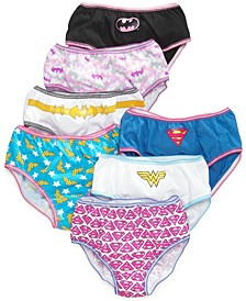 Justice League Cotton Underwear, 7-Pack, Little Girls & Big Girls