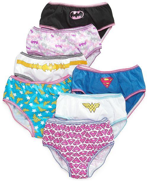 DC Comics Justice League Cotton Underwear, 7-Pack, Little Girls & Big Girls