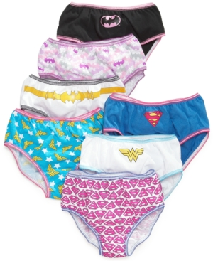 Dc Comics Justice League Cotton Underwear 7Pack Little Girls  Big Girls