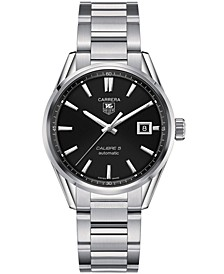 Men's Swiss Automatic Carrera Calibre 5 Stainless Steel Bracelet Watch 39mm
