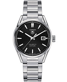TAG Heuer Men's Swiss Automatic Carrera Calibre 5 Stainless Steel Bracelet Watch 39mm WAR211A.BA0782