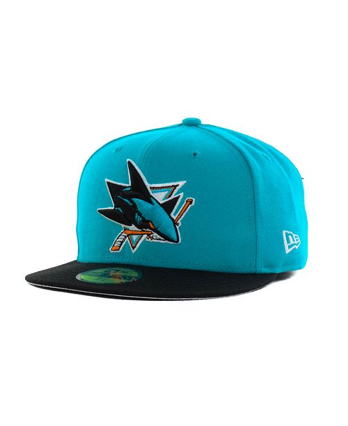 New Era San Jose Sharks Basic 59FIFTY Cap - Sports Fan Shop By Lids ... 35c159d95fbc