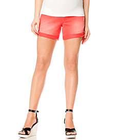 Motherhood Maternity Cuffed Colored Denim Maternity Shorts