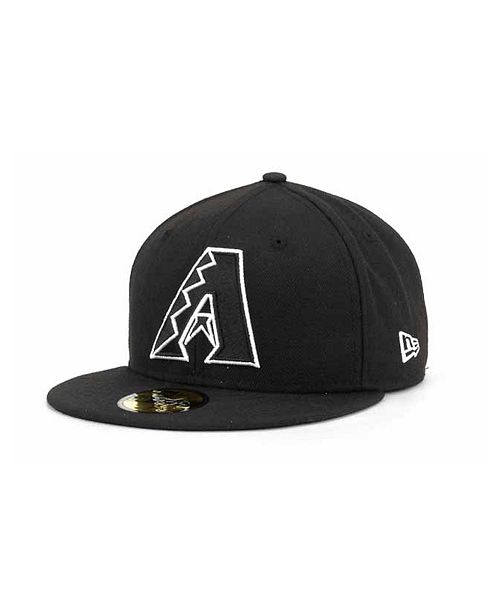 88a876d8f7c ... New Era Arizona Diamondbacks MLB Black and White Fashion 59FIFTY Cap ...