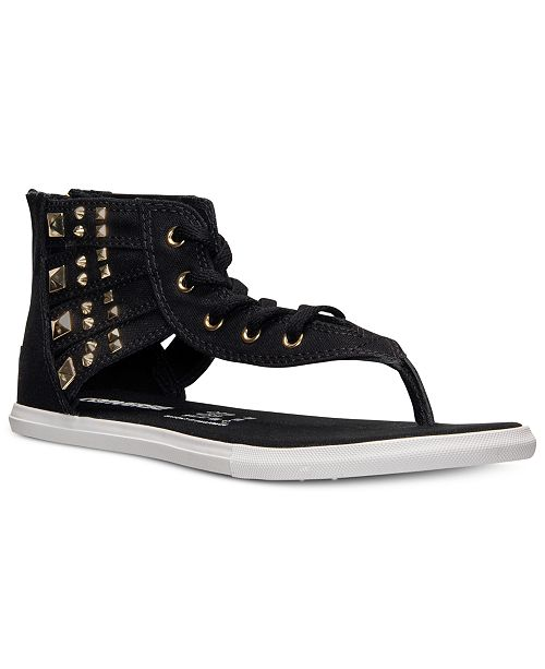 2bc99e7a4ea Converse Women s Chuck Taylor Gladiator Thong Sandals from Finish ...