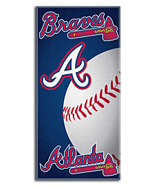 Northwest Company Atlanta Braves Emblem Beach Towel