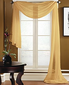 "Preston 48"" x 216"" Sheer Scarf Valance"