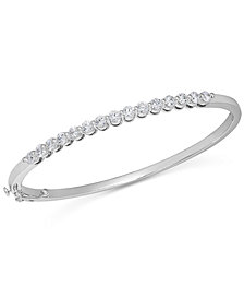 Diamond Bangle Bracelet in 14k White Gold (1-1/2 ct. t.w.)