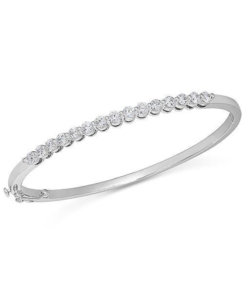 for bracelet tone product s shop pearl imitation bangles created bracelets bangle crystal silver hinged fpx macy macys danori