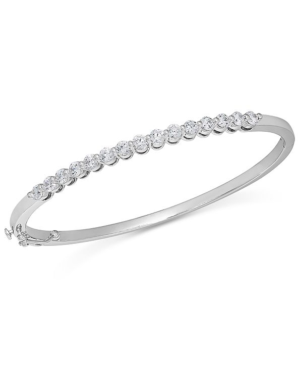 Macy's Diamond Bangle Bracelet in 14k White Gold (1-1/2 ct. t.w.)
