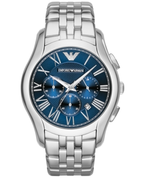 Emporio Armani Unisex Chronograph Stainless Steel Bracelet Watch 45mm AR1787