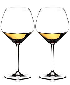 Set of 2 Heart to Heart Chardonnay Glasses