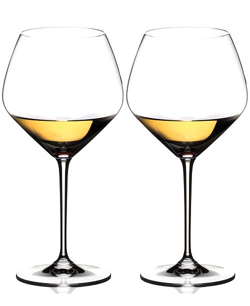Riedel Set of 2 Heart to Heart Chardonnay Glasses