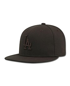 Kids' Los Angeles Dodgers MLB Black on Black Fashion 59FIFTY Cap