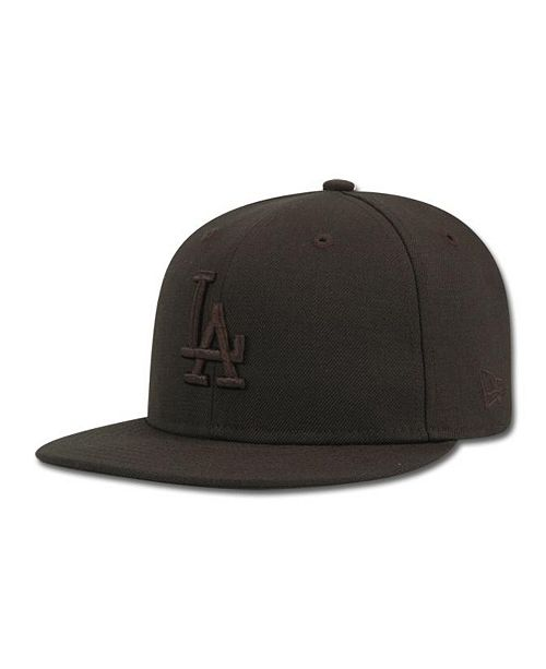 735e755f ... 59FIFTY Cap; New Era Kids' Los Angeles Dodgers MLB Black on Black  Fashion 59FIFTY ...