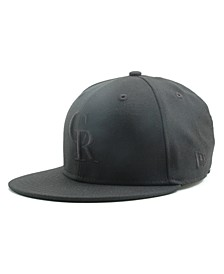 Kids' Colorado Rockies MLB Black on Black Fashion 59FIFTY Cap