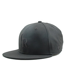 New Era Kids' Colorado Rockies MLB Black on Black Fashion 59FIFTY Cap