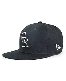 New Era Kids' Colorado Rockies MLB Black and White Fashion 59FIFTY Cap