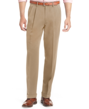 Izod Big and Tall Pleated Traveler Dress Pants