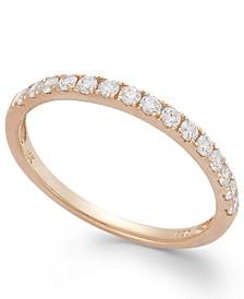 Arabella 14k Rose Gold Ring, Swarovski Zirconia Wedding Band (1 ct. t.w.)