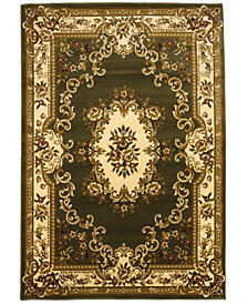 "CLOSEOUT! Kas Corinthian 5312 Green/Ivory Aubusson 2'2"" x 7'11"" Runner Rug"