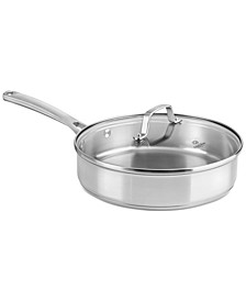 Classic Stainless Steel 3 Qt. Covered Saute Pan