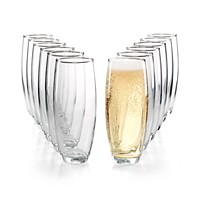 Deals on Martha Stewart Essentials 12-Pc. Stemless Flutes Set