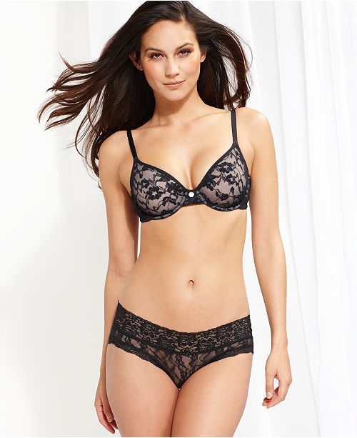 DKNY Signature Lace Unlined Bra 451238 - All Bras - Women - Macy s 4aed8f21f