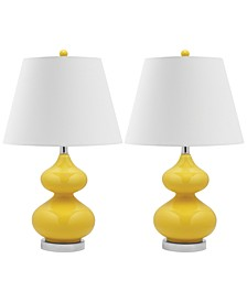 Set of 2 Eva Double Gourd Glass Table Lamps