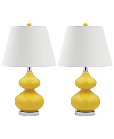 Safavieh Set of 2 Eva Double Gourd Glass Table Lamps