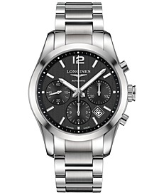 Men's Swiss Automatic Chronograph Conquest Classic Stainless Steel Bracelet Watch 41mm L27864566